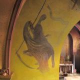 Wandschilderingen Aad de Haas in de Sint Cunibertuskerk in Wahlwiller