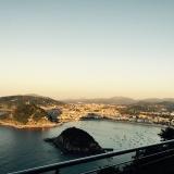 Gezicht vanuit het hotel op San Sebastian